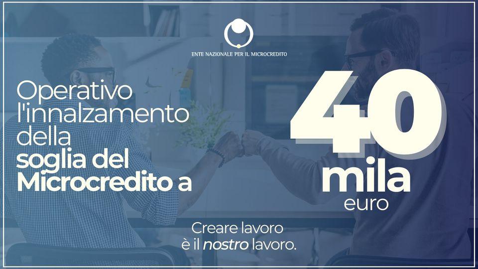 microcredito innalzamento 40000 euro - trsconsulting