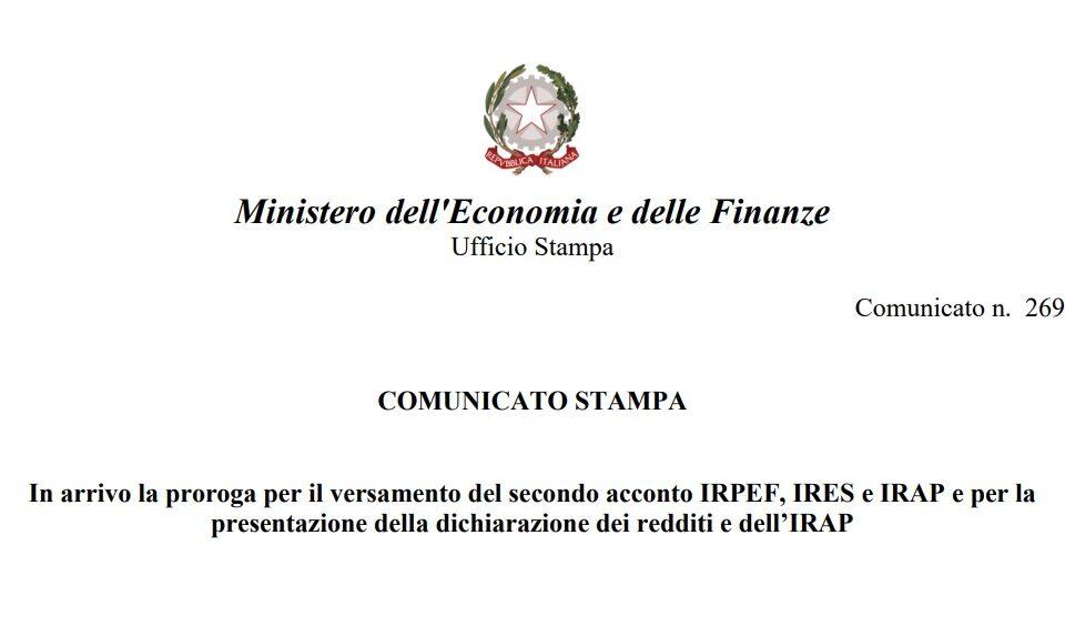 proroga dichiarazioni tasse aprile - trsconsulting